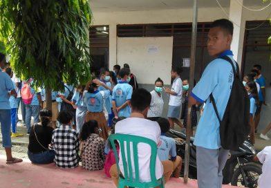 COVID-19 : Eskola 04 de Setembru UNAMET Díli Lakumpri Regra sira Prevensaun