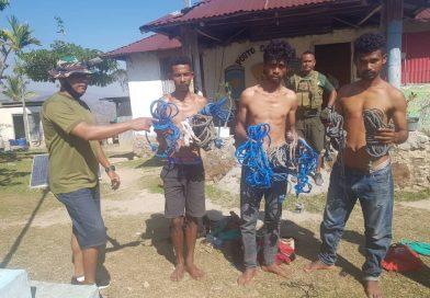 PNTL Kaptura Sidadaun TL Na'in 3 Tanba Naok Karau iha Indonézia